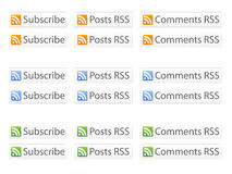 RSS Buttons EPS Royalty Free Stock Photography