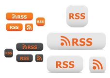 Rss buttons and symbols Stock Photography
