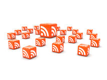 RSS cubes Royalty Free Stock Photo