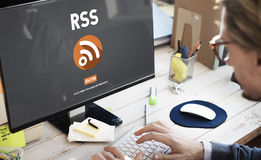 RSS Digital Announcement Network Technology Concept Royalty Free Stock Photo
