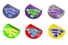 rss för symbol 3d Royaltyfria Bilder
