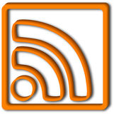 rss för symbol 3d stock illustrationer