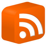 RSS feed. Illustration of RSS feed icon Royalty Free Stock Images