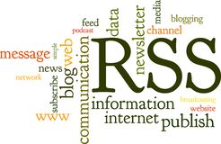 Rss Feed Word Cloud Royalty Free Stock Photos