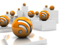 Rss feeds Stock Images