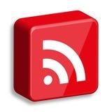RSS glanzend Webpictogram Stock Fotografie