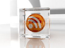 Rss glass stock photography