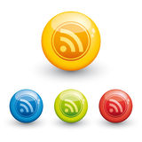 RSS glossy icon Royalty Free Stock Image