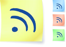 RSS graphic on sticky note Stock Photos