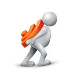 RSS icon. Communication Concept with 3d Man carrying Rss icon royalty free illustration