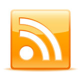 Rss icon. Glossy rss icon for website or weblog Stock Photography