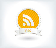 Rss icon and button Royalty Free Stock Photography