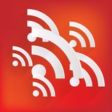 Rss icon, news symbol Royalty Free Stock Photography