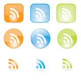 Rss icons. Icons set for  web Royalty Free Stock Photo