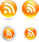 Rss icons. Stock Photography