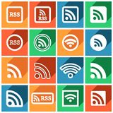 RSS icons Stock Photography