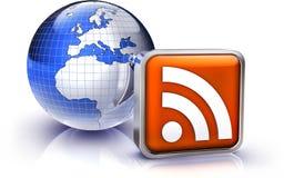 RSS ikona Fotografia Stock