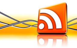 RSS ikona Obraz Stock