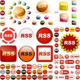 RSS ikona. Obraz Stock