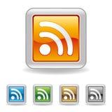RSS Ikone Lizenzfreies Stockfoto