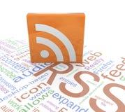RSS Ikone Lizenzfreie Stockfotos