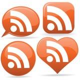 RSS Ikonen Stockbild