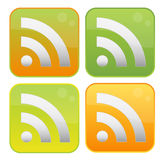RSS Ikonen Lizenzfreies Stockbild