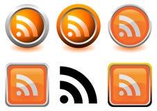 RSS Ikonen Lizenzfreie Stockbilder