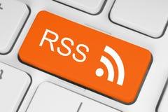 RSS-knapp på tangentbordet Royaltyfri Foto