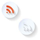 RSS-lägenhetsymbol Arkivfoton
