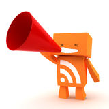 RSS Megaphone Royalty Free Stock Image
