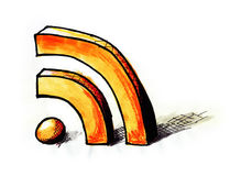 RSS News Feed Stock Photography