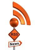 Rss road sign vector illustration