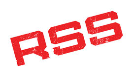 Rss rubber stamp Royalty Free Stock Image