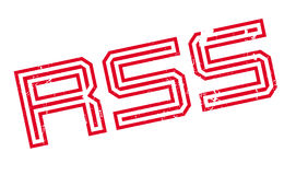 Rss rubber stamp Stock Photography