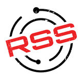 Rss rubber stamp Stock Image