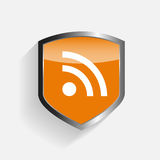 RSS Shield Illustration Vector Stock Image