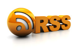 Rss sign Royalty Free Stock Image