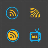 RSS sign icons. RSS feed symbols Stock Photos