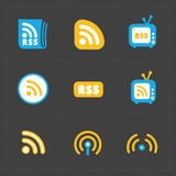 RSS sign icons. RSS feed symbols Stock Photography