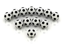 RSS sign of soccer balls Royalty Free Stock Image