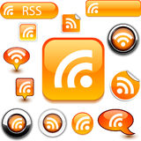 Rss signs. Royalty Free Stock Photos