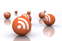 Rss Spheres Royalty Free Stock Images