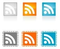 RSS Symbo Lizenzfreie Stockbilder