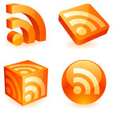 Rss symbol. Royalty Free Stock Photo