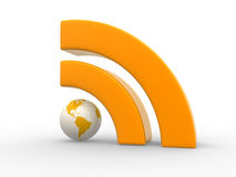RSS symbol Stock Photo