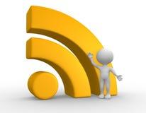 RSS-Symbol Lizenzfreie Stockfotografie