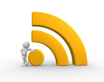 RSS symbol - blog Stock Images