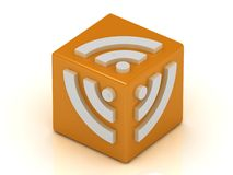 RSS symbol cube Royalty Free Stock Photography
