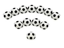 RSS symbol of soccer balls Royalty Free Stock Photos